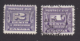 Canada, Scott #J12-J13, Used, Postage Due, Issued 1933 - Postage Due