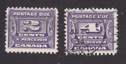 Canada, Scott #J12-J13, Used, Postage Due, Issued 1933 - Portomarken