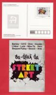 PAP Entier De L´ Exposition STREET ART à L´Adresse Musée De La Poste, Peinture Art - Postal Stamped Stationery