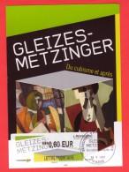 CM Faite Avec Le PAP Gleizes Metzinger L´Adresse Musée De La Poste Et La Vignette D'affranchissement LISA - Entiers Postaux