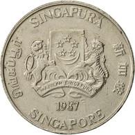 Singapour, 20 Cents, 1987, British Royal Mint, TTB, Copper-nickel, KM:52 - Malaysie