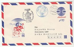 1978 CZECHOSLOVAKIA HELICOPTER FLIGHT COVER B2001 Pardubice  Prag SPECIAL Airmail POSTAL STATIONERY Aviation Stamps - Postal Stationery