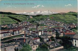 ST.GALLEN - ST. LEONHARDSQUARTIER MIT SANTIS - 9.1.1911 - SG St. Gall