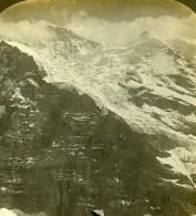 Suisse Jungfrau Panorama Ancienne Photo Stereo Stereoscope ASC 1900 - Stereoscopic