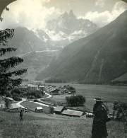 Suisse Vallée De Chamonix Panorama Ancienne Photo Stereo Stereoscope ASC 1900 - Stereoscopic