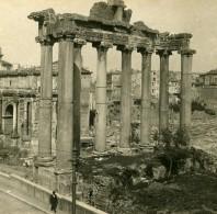 Italie Rome Temple De Saturne Ancienne Stereo SIP Photo 1900 - Stereoscopic