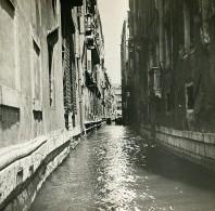 Italie Venise Un Canal Ancienne Stereo SIP Photo 1900 - Stereoscopic