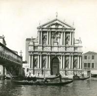 Italie Venise Église Santa Maria Di Nazareth Scalzi Ancienne Stereo SIP Photo 1900 - Stereoscopic