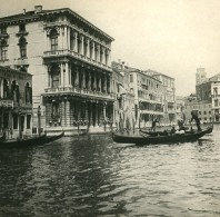 Italie Venise Le Grand Canal Ancienne Stereo SIP Photo 1900 - Stereoscopic