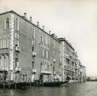 Italie Venise Perspective Du Palais & Entrée Du Grand Canal Ancienne Stereo SIP Photo 1900 - Stereoscopic