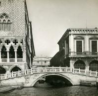Italie Rome Ponte Della Paglia Et Des Soupirs Ancienne Stereo SIP Photo 1900 - Photos Stéréoscopiques
