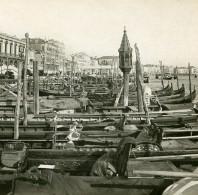 Italie Venise Vue Sur Les Quais Ancienne Stereo SIP Photo 1900 - Stereoscopic