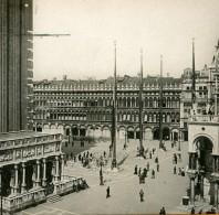 Italie Venise La Place Saint Marc La Logetta Ancienne Stereo SIP Photo 1900 - Stereoscopic