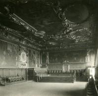 Italie Venise Palais Des Doges La Salle Du Sénat Ancienne Stereo SIP Photo 1900 - Stereoscopic