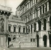 Italie Venise Palais Des Doges L' Escalier Des Géants Ancienne Stereo SIP Photo 1900 - Stereoscopic