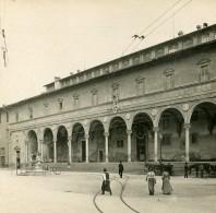 Italie Firenze Florence Spedale Degli Innocenti Ancienne Stereo SIP Photo 1900 - Stereoscopic
