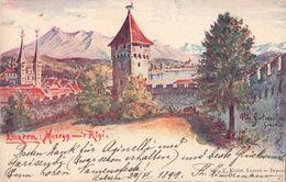 LUZERN - MUSEGG MIT RIGGI - 24.VI.1899 - LU Lucerne