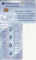 ROMANIA(chip) - Romanian Olympic Committee, Calendar 2004, 03/04, Sample(no CN) - Romania