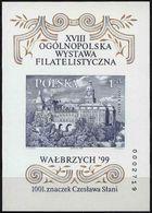 Poland 1999, Mi Bl.136B. Imperforate Architecture Książ Castle Furstenstein Nationwide Philatelic Exhibition MNH** W62 - Castles