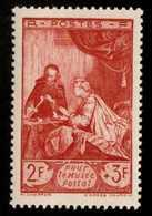 FRANCE - Scott #B205 The Letter By Jean Siméon Chardin / Mint H Stamp - Neufs