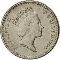 Grande-Bretagne, Elizabeth II, 5 Pence, 1990, TB+, Copper-nickel, KM:937b - 1971-… : Monnaies Décimales
