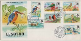 Kingfisher, Sunbirds, Orange-throated Longclaw, African Hoopoe, Red Bishops, Egyptian Goose, Lilac Breasted Roller FDC - Passereaux