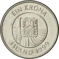 Iceland, Krona, 1999, TTB, Nickel Plated Steel, KM:27A - Iceland