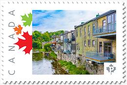 PARIS,Ontario, Grand River St. Backyard. Custom Postage Stamp MNH Canada 2018 [p18-04sn03] - Architecture