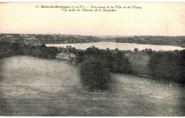 CPA N°21165 -  BAIN DE BRETAGNE - PANORAMA DE LA VILLE ET DE L' ETANG - VUE PRISE DU CHATEAU DE LA BORGNERE - France