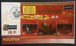 FDC Philippines 2017 - Year Of The Rooster SS - Anno Nuovo Cinese