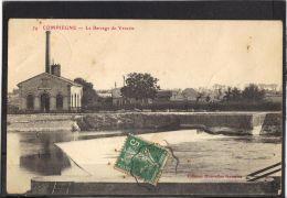 60206 .  COMPIEGNE . LE BARRAGE DE VENETTE . (recto/verso) ANNEE  1907 - Compiegne