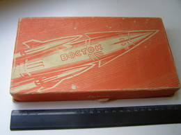 """Soviet Space Cosmos Kosmos Sputnik  """"  VOSTOK  """" Candy Box  1950/60s USSR Russia - Latvia - Altri"""