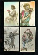 Beau Lot De 60 Cartes Postales De Fantaisie Femmes Femme   Mooi Lot Van 60 Postkaarten Fantasie Vrouwen Vrouw - 60 Scans - Postcards