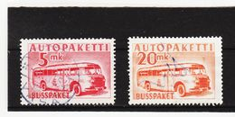 AUA693 FINNLAND 1952 Michl 6 + 7 AUTO-PAKETMARKEN Gestempelt SIEHE ABBILDUNG - Finnland