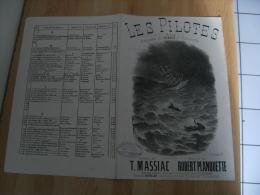Ancienne Partition Musique  Caf Conf Cafe Concert   Gravure  Les Pilotes Voiler  Edi Bathlot - Partitions Musicales Anciennes