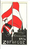 SUISSE Schweiz Genève  Etudiant  Zofingue Escalade 1926 - Postcards