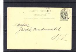 Belgique - Carte Postale De 1893 - Entier Postaux - Oblit Roulers - Cachet Du Facteur - Enteros Postales