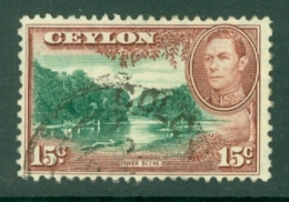 Ceylon: 1938/49   KGVI - Pictorial  SG390a   15c  [Wmk Upright]   Used - Ceylan (...-1947)