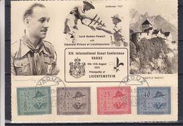 Liechtenstein - Carte Postale De 1953 - Oblit Vaduz - Scoutisme - Baden Powell - Valeur 70 Euros - Liechtenstein