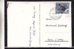 Liechtenstein - Carte Postale De 1956 - Oblit Vaduz - Sports - Ski - Valeur 35 Euros - Liechtenstein