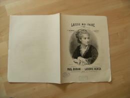 Ancienne Partition De Musique Fravure  Laisse Moi Faire  Cafe Concert Caf Conf Edi Smith - Scores & Partitions