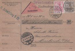 CP - Etiquette Nachnahme - 29 Mars1912 - Colmar Vers Markirch - Alsace Lorraine