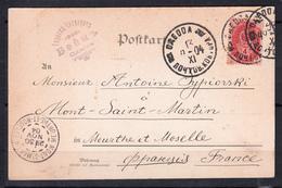 10c Rose Aigle  Cachet De ODESSA Le 13 Nov 1904 Sur CPA De BERLIN Pour MONT SAINT-MARTIN M.et.mos - 1857-1916 Empire