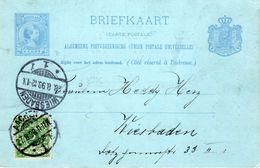 27 8 98  Bk P36b Verzonden Van AACHEN Naar Wiesbaden Met 5 Pfennig-zegel - Periode 1891-1948 (Wilhelmina)