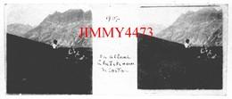 En Allant à La Tête Noire De Cordon 74 Savoie En 1907 - Plaque De Verre En Stéréo - Taille 43 X 107 Mlls - Plaques De Verre