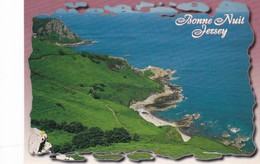 Postcard Bonne Nuit Jersey With 1997 Cancel And Jersey UK Minimum Postage Paid Stamp My Ref  B22533 - Jersey