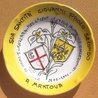 Ceramica Solimene - Suzzara Piatto Privato - S. Luigi Gonzaga Giovanni Paolo II - Oggetti 'Ricordo Di'