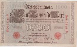 ALLEMAGNE 1910 REICHSBANKNOTE  1000 MARK - [ 2] 1871-1918 : German Empire