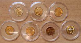 Lot De 7 Médailles Thème Des 20 Francs MARIANNE 1982 à 1988 Bronze Florentin - Profesionales / De Sociedad
