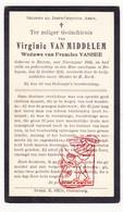 DP Virginie Van Middelem ° Roksem Oudenburg 1856 † Bekegem Ichtegem 1935 X Francies VanHee - Devotion Images